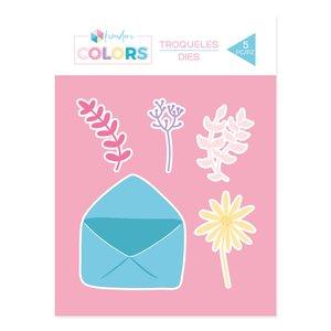 Troquel Kimidori Colors Sobre con flores