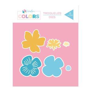 Troquel Kimidori Colors Flores por capas