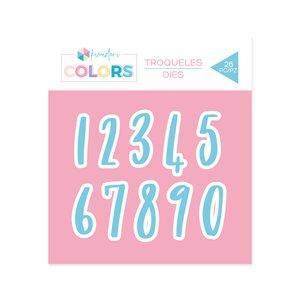 Troquel Kimidori Colors Números Chin