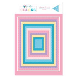 Troqueles básicos Kimidori Colors rectángulos grandes cosidos