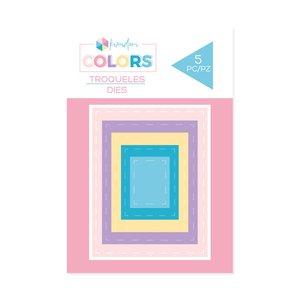 Troqueles básicos Kimidori Colors Mini rectángulos cosidos