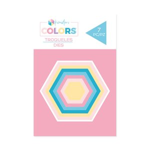 Troqueles básicos Kimidori Colors Mini Hexágonos cosidos
