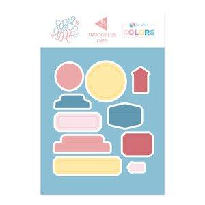 Troquel Scrap Your Life Kimidori Colors Tabs y labels