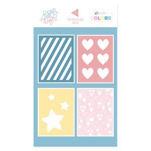 Troquel Scrap Your Life Kimidori Colors Tarjetas 3x4 decoradas