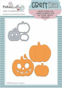 Troqueles PolkaDoodles Spooky Pumpkins