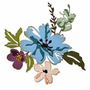 Troqueles Thinlits Sizzix-Tim Holtz Brushstroke Flowers 2