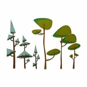 Troqueles Thinlits Sizzix-Tim Holtz Funky Trees