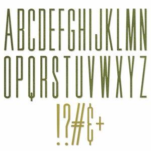 Troqueles Thinlits Sizzix-Tim Holtz Alphanumeric Strecht Upper