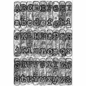 Carpeta embossing 3D Textured Sizzix-Tim Holtz Typewriter