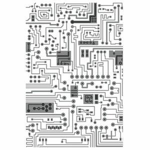 Carpeta embossing Texture Sizzix-Tim Holtz Circuit