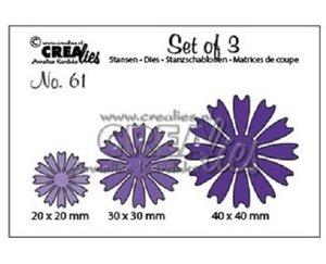 Troqueles Crealies Set Flowers n61