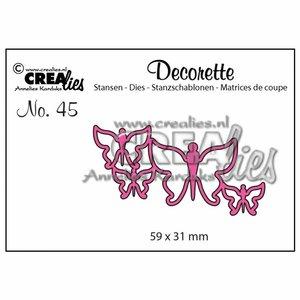 Troqueles Crealies Decorette Butterflies n45