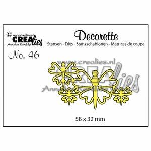 Troqueles Crealies Decorette Butterflies n46