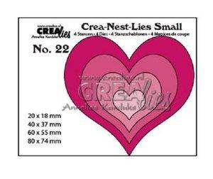 Troqueles Crealies Crea-Nest-Lies Hearts 4 pcs