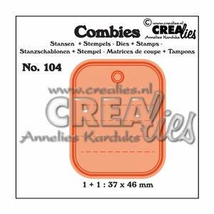 Troqueles y Sellos Crealies Combies Set Tag A