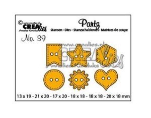 Troqueles Crealies Partz Buttons