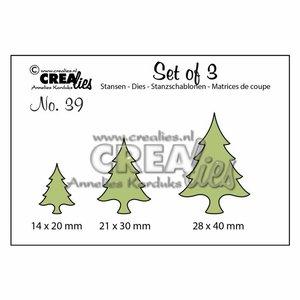 Troqueles Crealies Set Christmas Tree
