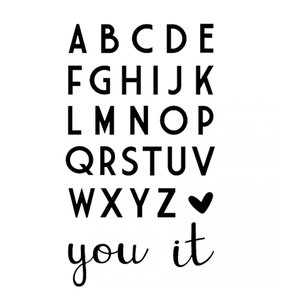 Troqueles Alfabeto Love It