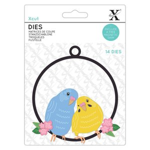 Troqueles Xcut The Budgie Bunch 14 pcs