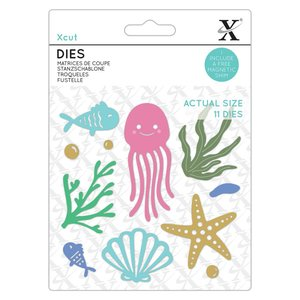 Troqueles Xcut Under the Sea 11 pcs