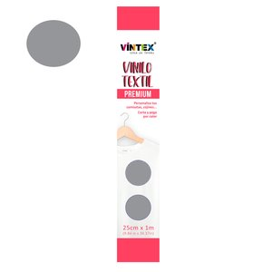 Vinilo textil Premium Vintex planchado rápido Plata