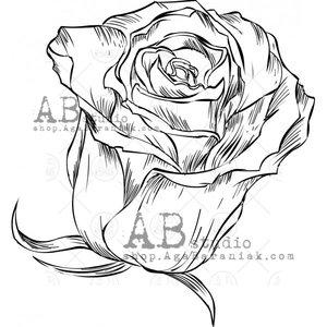 Sellos de caucho AB Studio ID-1071 Small Roses