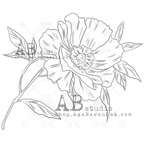 Sellos de caucho AB Studio ID-518 Flower 1