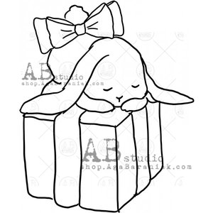 Sellos de caucho AB Studio ID-1106 Birthday Bunny