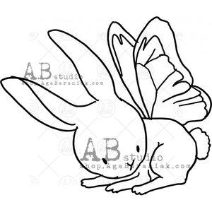 Sellos de caucho AB Studio ID-1105 Bunny with Wings