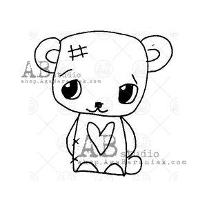 Sellos de caucho AB Studio ID-1040 Cute Tandi Bear