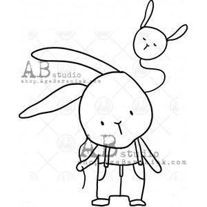 Sellos de caucho AB Studio ID-1002 Cute Bunny