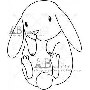 Sellos de caucho AB Studio ID-967 Little Bunny