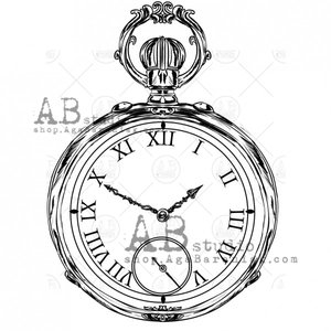 Sellos de caucho AB Studio ID-718 Vintage Clock