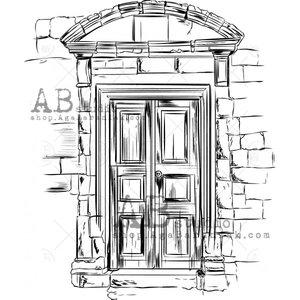 Sellos de caucho AB Studio ID-475 Vintage Door