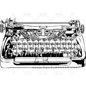 Sellos de caucho AB Studio ID-462 Vintage Typewriter