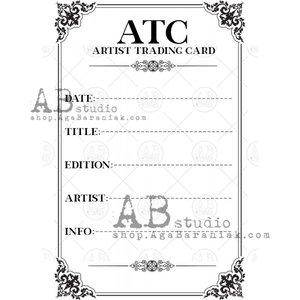 Sellos de caucho AB Studio ID-1109 Artist Trading Card