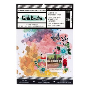 "Pad 6""x8"" Vicki Boutin Let's Wander Mixed Gold Foil"