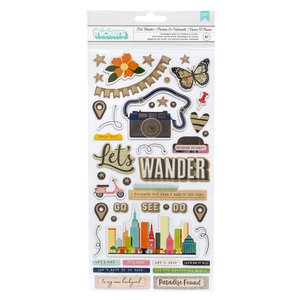 Thickers frases chipboard Vicki Boutin Let's Wander