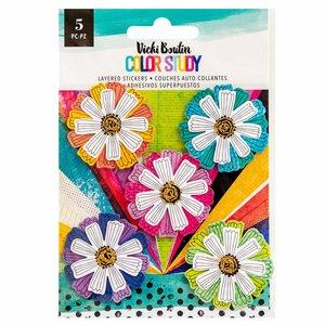 Pegatinas 3D Flowers Color Study de Vicki Boutin