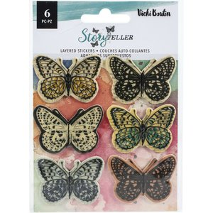 Pegatinas Butterflies 3D StoryTeller de Vicky Boutin