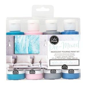 Kit de Pinturas Color Pour Metals Iridescent