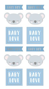 Pegatinas puffy My Little Baby Koala Boy