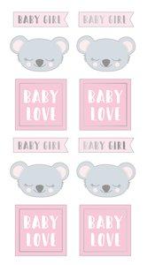 Pegatinas puffy My Little Baby Koala Girl