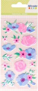 Pegatinas puffy Happy Spring Flores