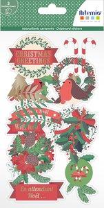 Pegatinas de chipboard Artemio Merry Christmas