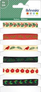 Set de cintas de tela Artemio Merry Christmas