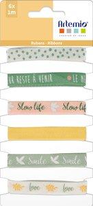 Set de cintas estampadas Artemio Slow Life