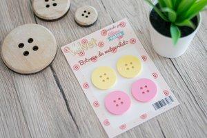 Pack de 4 botones de metacrilato Velvet
