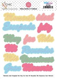 Pegatinas palabras en castellano CHIC de Elena Roche