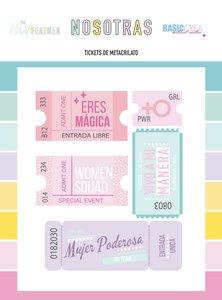 Set de metacrilatos impresos Tickets Nosotras de The Mint Feather